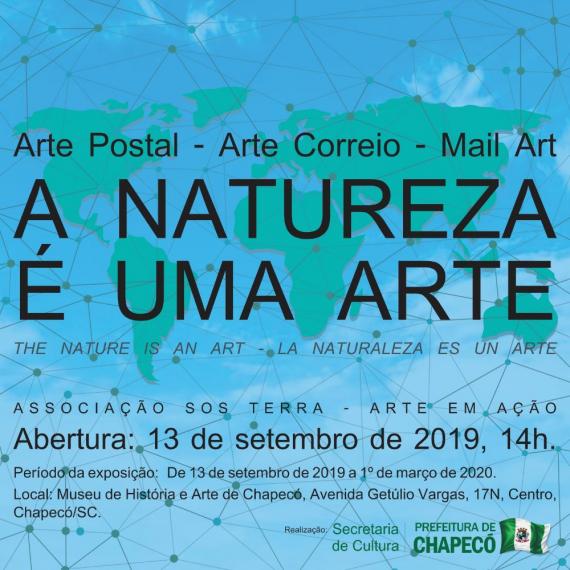 """Exposição """"A natureza é uma arte"""" inicia sexta-feira (13) em Chapecó"""