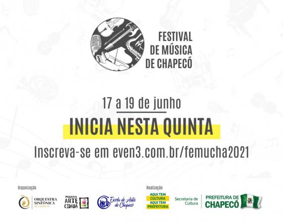 Inicia nesta quinta-feira o Festival de Música de Chapecó