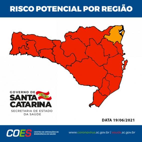 Matriz de Risco aponta 15 regiões do Estado em nível gravíssimo para Covid-19