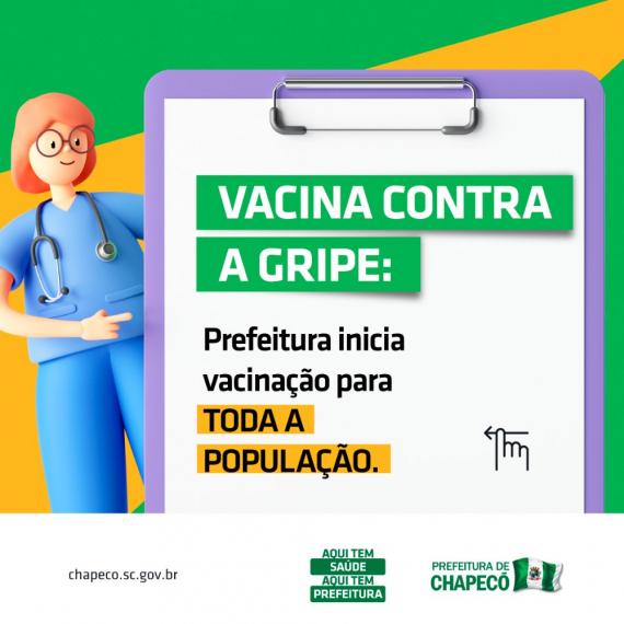 Vacinação para a Gripe é liberada para a população em geral