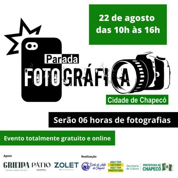 Estão abertas as inscrições para a Parada Fotográfica de Chapecó