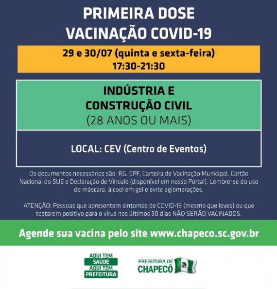 Novo agendamento aberto para indústrias e construção civil