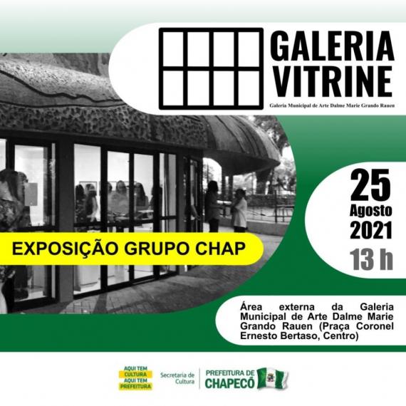 Galeria Municipal de Arte de Chapecó promove Galeria Vitrine