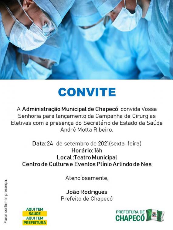 Chapecó lançará mutirão de seis mil cirurgias nesta sexta-feira