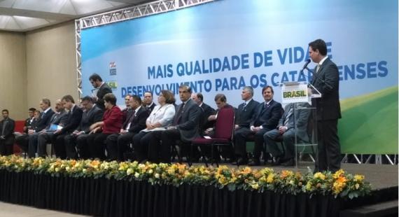 Prefeito de Chapecó acompanha anúncio de novas ações para SC em Florianópolis