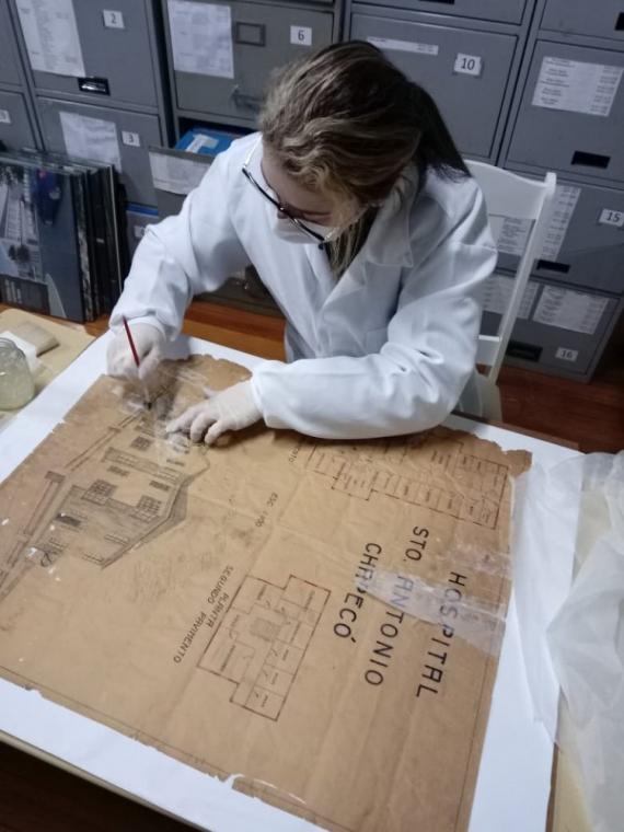 Museu realiza restauração de documento