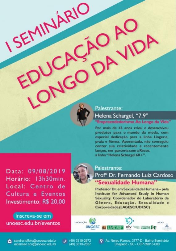 Chapecó sedia Seminário Educação ao Longo da Vida
